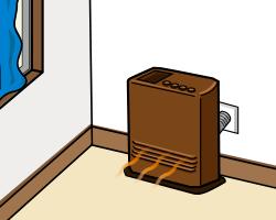 密閉燃焼式石油温風暖房機