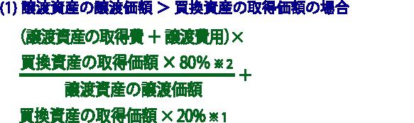 譲渡所得の金額の計算方法